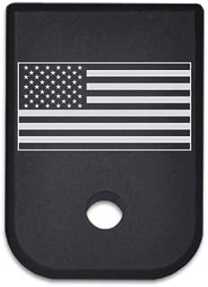 BASTION Laser Engraved Mag Butt Plate, Magazine Floor Base Plate for Glock All Gen 1-5 9mm .357 .40 .45 Gap - USA Flag