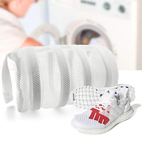 SOOHAO Saco Lavadora para Zapatos 2 Piezas, Bolsas de lavandería para Zapatos para Lavadora, Bolsa de Lavandería de Malla Perfecta para Zapatos, Zapatillas, Calcetines y Delicados