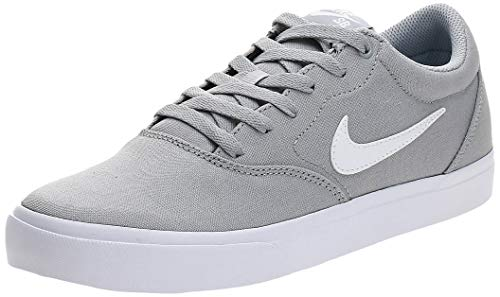 Nike Herren SB Charge Solarsoft Textile Running Shoe, Wolf Grey/White, 44.5 EU