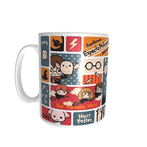 SAQUITOMAGICO Taza HP Cute viñetas Divertidas mug (pottercute)