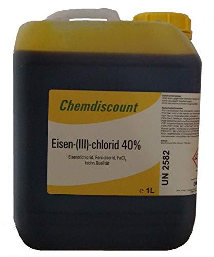 Chemdiscount 5Liter (7kg) Eisen-III-chlorid 40% ige Lösung Eisenchlorid Eisentrichlorid Ätzmittel