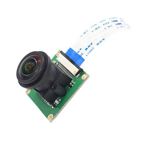 suoryisrty Raspberry Pi 3/4B Camera Module OV5647 5MP 1080p 175° Wide Angle Fisheye Webcam