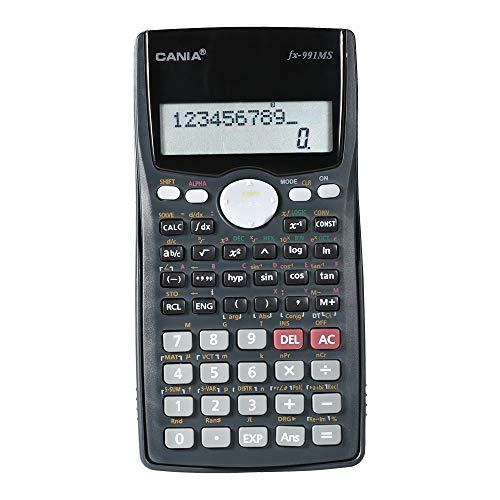 Aibecy Wissenschaftlicher Taschenrechner Zähler 401 Funktionen Matrix Punkt Vektor Gleichung Berechnen 2 Zeilen Anzeige Business Office Middle High School Schüler SAT / AP Test Berechnen