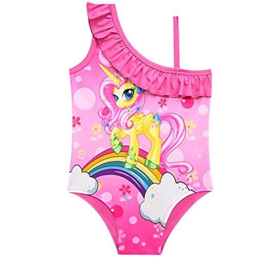 Traje de Baño Unicornio Una Pieza Niña Bañador de Natación de Playa 3-10Años