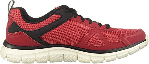 Skechers Track-scloric 52631-bkrd - Zapatillas de gimnasia bajas para hombre Rojo Size: 39 EU