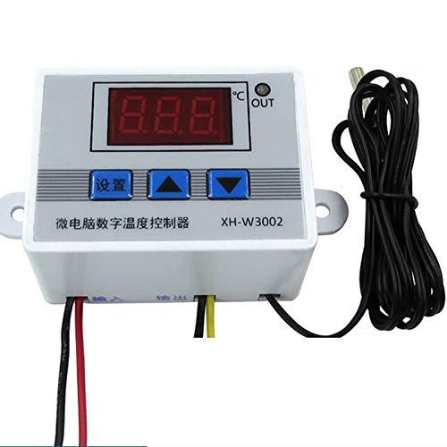Mogzank XH-W3002 220V Controlador de Temperatura LED Digital 10A Sonda de Interruptor de Control de Termostato con Sensor Impermeable W3002