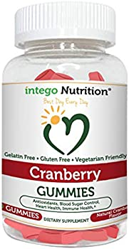 60-Count Intego Nutrition UTI Cranberry Gummies Supplement