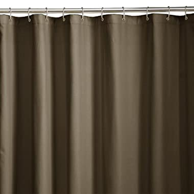 Maytex Soft Microfiber Water Repellent Fabric Shower Liner or Curtain, Chocolate