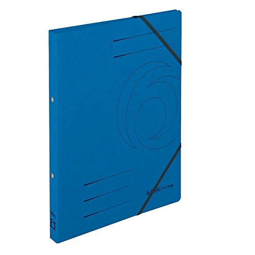 Herlitz 11255437 Ringhefter A4, 2 Ring-Mechanik, Rückenbreite 25 mm, Füllhöhe 14 mm, Colorspan, 5 Stück, blau