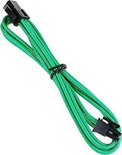 BitFenix 45cm 4-Pin ATX12V Extension Cable - Sleeved Green/Black