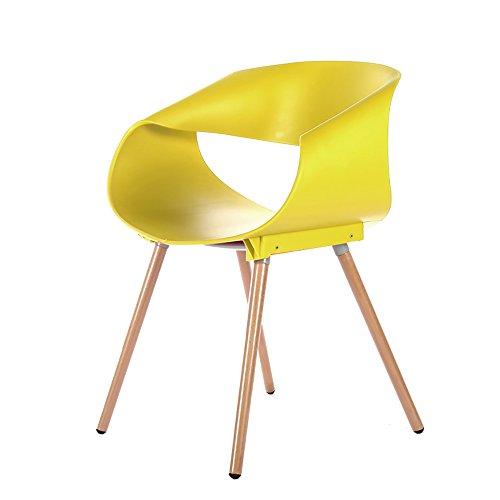 G-Y Sofa Paresseux, Chaise De Roulement De Chaise D'oeufs, Chaise en Bois Solide De Café en Bois De Dinant La Chaise (Couleur : Le Jaune)