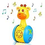 aovowog Juguetes Bebe 6 Meses Más,Juguetes Musicales para Niños,Juguetes de Vaso de Jirafa Juguete de Sonido con...