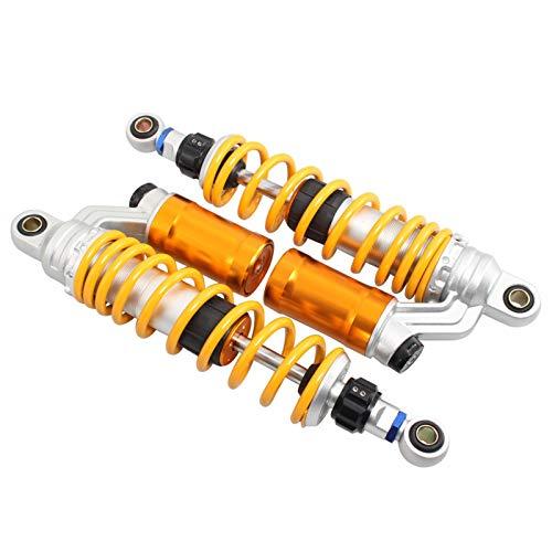 LRJBFC Motocicleta Universal Suspensión Trasera 350 mm Amortiguador de Aire Ajustable Ajustable Adecuado para la mayoría de los Modelos de Motocicletas ATV Quad Dirt Bike