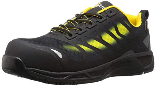 Nautilus 2436 Men's Advanced ESD Nano Carbon Fiber Safety Toe Athletic Work Shoe, Yellow, 11 W US
