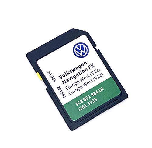 SD-Karte für Volkswagen/Skoda/Seat FX RNS310 2020/2021 Navi Karte Update SD Karte V12 Cover All Europe – Teilenummer: 280962