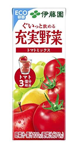 充実野菜 トマトミックス 200ml×24本 紙パック