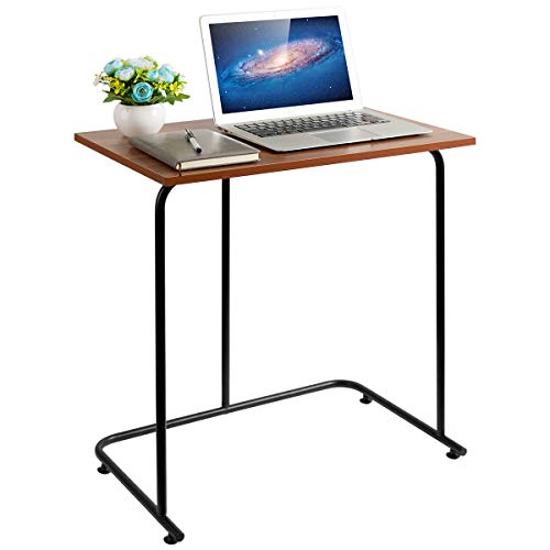 danpinera End Table, Sofa Side Table for Small Spaces C Shape Snack Table Laptop Notebook Stand Living Room Furniture