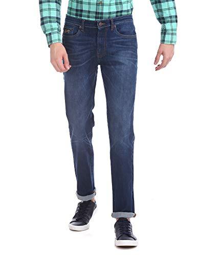AEROPOSTALE Slim Straight Fit Dark Wash Jeans