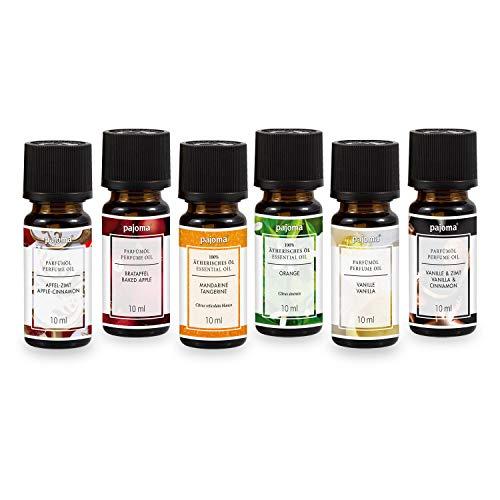 pajoma Duftöle 6er Set Duftölset Weihnachten, 6x 10 ml Duftöl für Duftlampe oder Diffuser