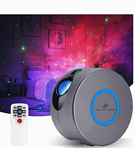 Star Projector, Galaxy Projector with Led Nebula Cloud,Star Light Projector with Remote Control for Kids Adults Bedroom/Party and Home Theatre (Grey)
