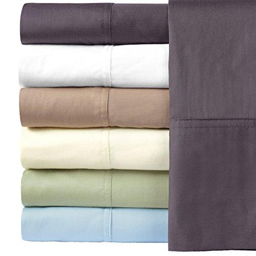 Royal Hotel Bedding Silky Soft Bamboo Cotton Sheet Set, 100% Bamboo-Cotton Bed Sheets, King Size, White