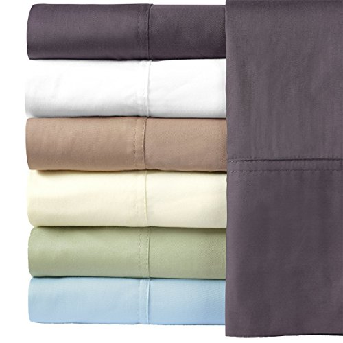Royal Hotel Silky Soft Bamboo Cotton Sheet Set, 100% Bamboo-Cotton Bed Sheets, Queen Size, White