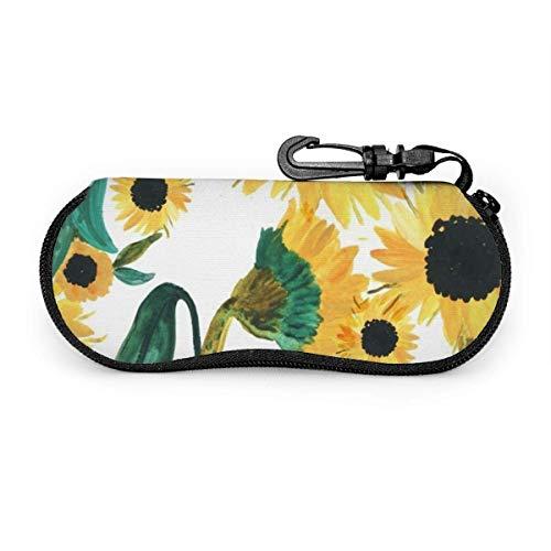 Gafas de sol Suower de acuarela con hebilla de bloqueo Bolsa suave Funda de gafas con cremallera de tela de buceo ultraligera