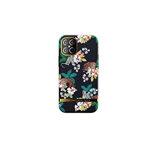 RICHMOND & FINCH Funda Teléfono Diseñada para iPhone 12 Mini Funda, 5.4 Pulgada, Tigre Floral Fundas Probadas contra Caídas, Bordes Elevados a Prueba De Golpes, Funda Protectora