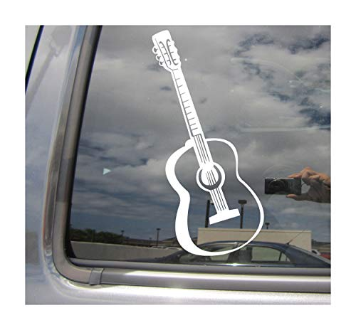 Right Now Decals Acoustic Guitar - String Singer Country Music - Cars Trucks Moped Helmet Hard Hat Auto Automotive Craft Laptop Vinyl Decal Store Window Wall Sticker 10191