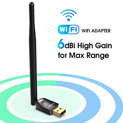 EDUP USB WiFi Adapter for PC, Wireless Network Adapter for Desktop- Dongle High Gain 6dBi Antenna Support Desktop Laptop Compatible with Windows 10/8/7/XP/VISTA, MAC 10.6-10.11