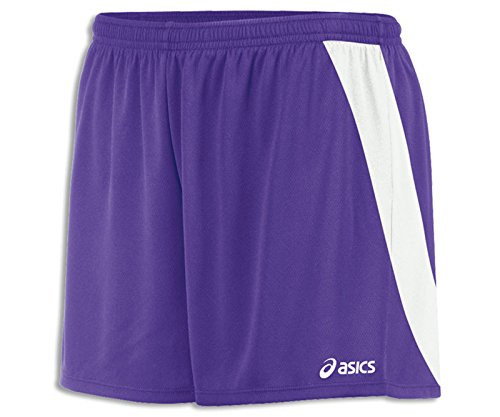 ASICS - Pantaloncini da Donna, Donna, Pantaloncini, TF2353, Viola/Bianco, M
