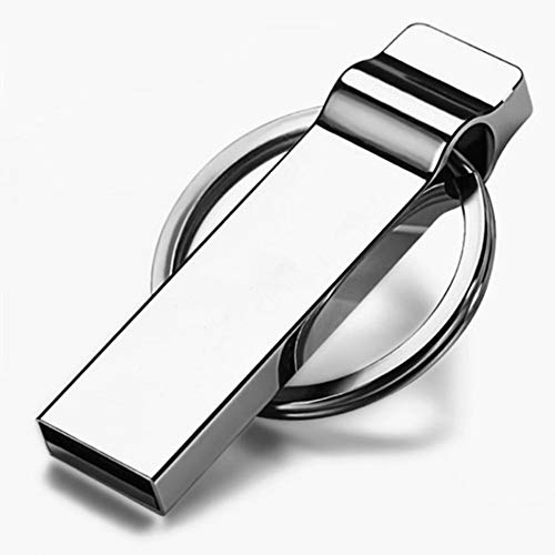 Gasfja 32G 64G - Portachiavi a forma di U in metallo impermeabile, argento (Argento) - Gasfja6953574461897