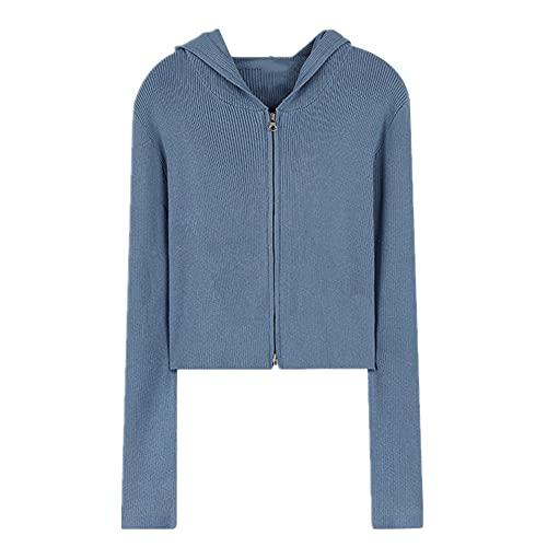 Suéter de manga larga dulce chaqueta de punto