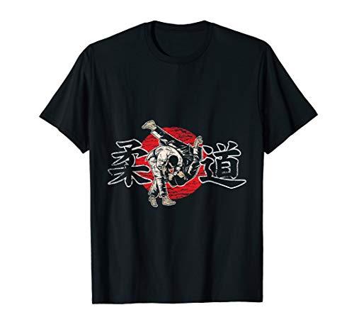 Judoka Geschenkidee schwarzer Gürtel Judo T-Shirt