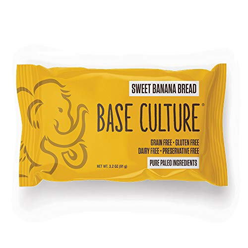 Base Culture Sweet Banana Bread, Snack Size | Delicious 100% Paleo, Gluten, Grain, Dairy, and Soy Free (4g Protein Per Loaf, 16 Count)