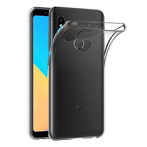 Kit 1 Capa E 1 Película Para Xiaomi Mi A2 Tela 5.99 Capinha Tpu Flexível Transparente E Película De Vidro Temperado