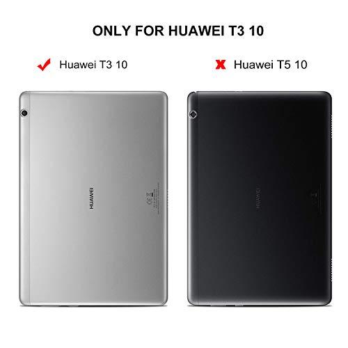 ELTD Huawei MediaPad T3 10 Tastatur, Detachable Kabellose Tastatur (QWERTZ Tastatur) mit Standfunction Für Huawei MediaPad T3 10, Rosegold - 2