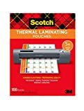 Scotch Thermal Laminating Pouches, 100-Pack by