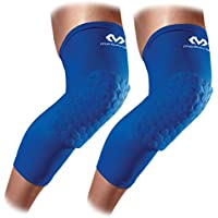 McDavid Hex Knee Pads Compression Leg Sleeve for Basketball, Volleyball, Weightlifting, and More