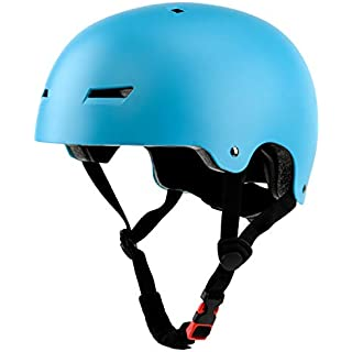 Ouwoer Kids/Adult Skateboard & Bike Helmet, CPSC Certified, Adjustable and Multi-Sport, from Toddler to Adult (Blue)