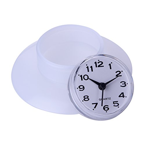 Jopwkuin Reloj de Pared, Relojes de Cuarzo con Ventosa Grandes y Resistentes,...