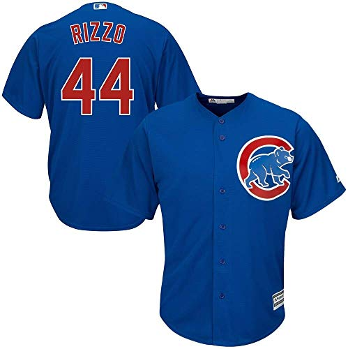 OuterStuff Anthony Rizzo Chicago Cubs MLB Majestic Toddler 2-4 Blue Alternate Cool Base Replica Jersey (Toddler 4T)