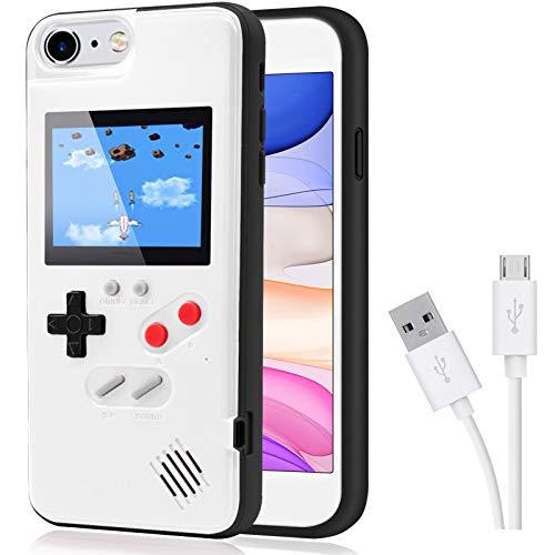 Dikkar Custodia Gameboy per iPhone, Custodia Autoalimentata Retro Protettiva con 36 Piccoli Giochi, Display a Colori, Custodia per Videogiochi per iPhone X/XS/Max/XR / 6/7/8 & Plus / 11