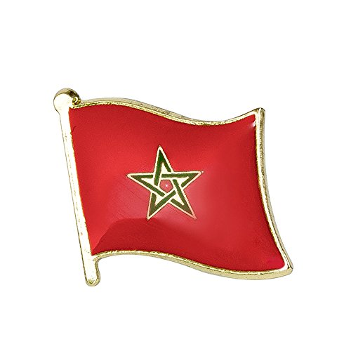 Marokko Marokkanische Flagge Metall Button Badge Pin Pins Anstecker