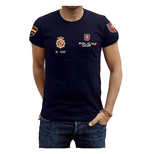 Piel Cabrera Camiseta Policía UIP (Talla M, Negro)