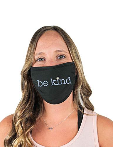 Be Kind Cloth Face Covering (Black) - Black
