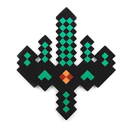 GAMINS Espada De Mosaico De Píxeles, Espada De Espuma De Diamante, Espada Mágica, Un Juguete De Acción Y Aventura Inspirado En Los Videojuegos