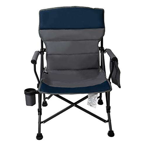 Pacific Pass Camping Chair Heavy Duty Padded Chair, 400lbs Capacity, Folding Sports High Back Chair...