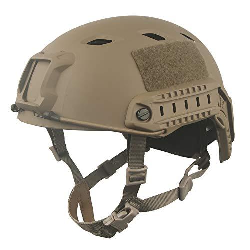 LOOGU Fast BJ Base Jump Military Helmet with 12-in-1 Headwear