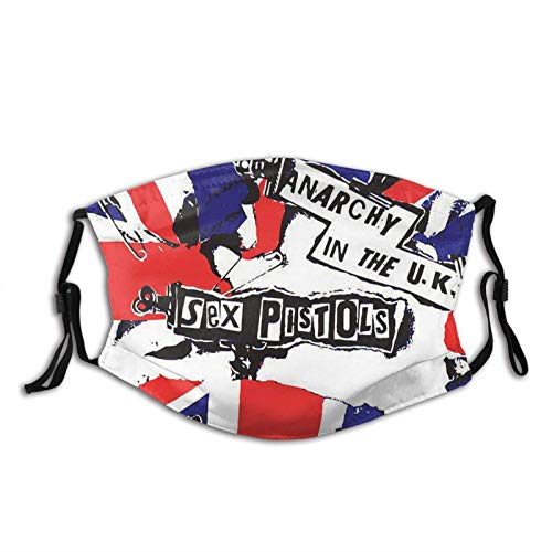 Nicegift Sex Pistols No Caio Caldas Cloth Face Ma_sk Washable Reusable Mouth Ma_sk Breathable Covering with Adjustable Ear Loops for Protection